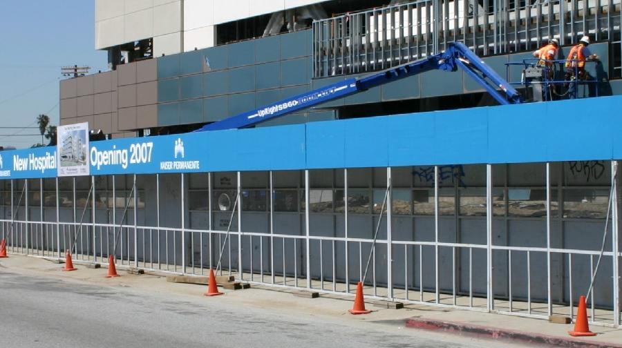 Std. Rent-A-Walk Type Canopy Barricade - Safe-T-Walk Inc.